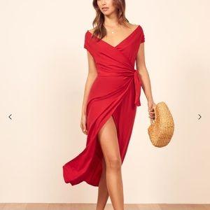 Brand new Reformation Sage Wrap Dress